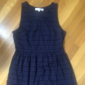 Navy eyelet dress.  EUC